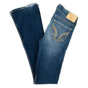 Hollister Jeans Boot Cut Embroidered Low Rise 00 R